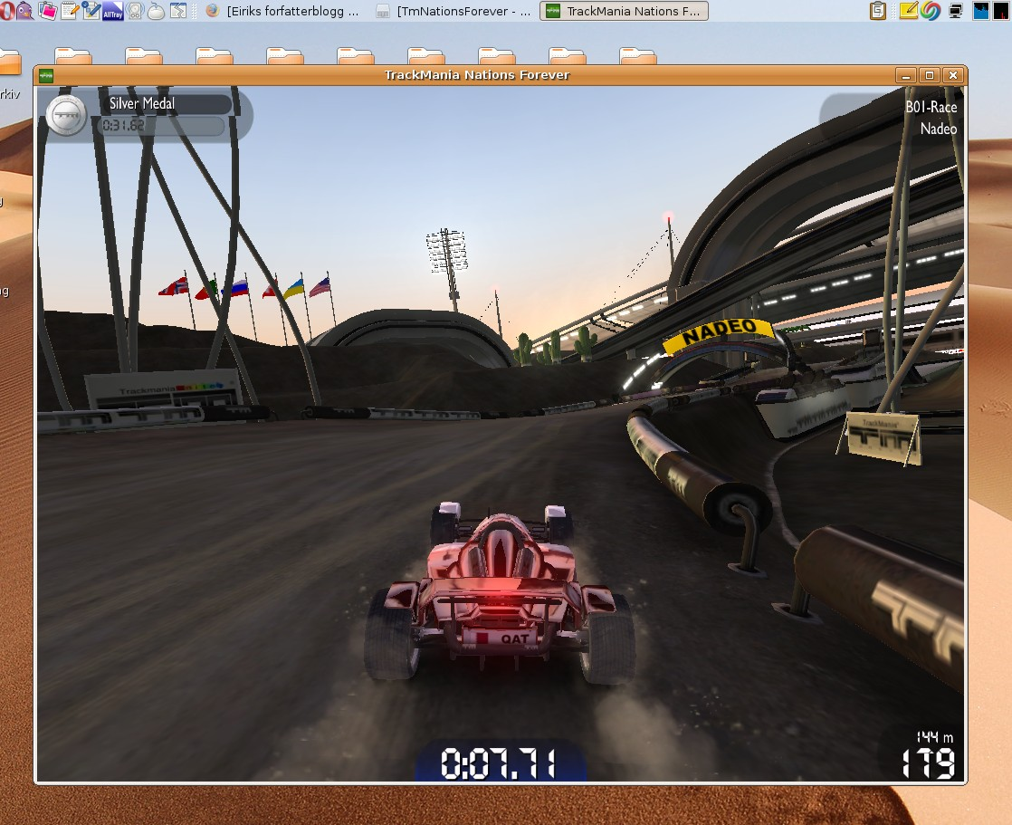 Howto Install Trackmania Nations Forever On Ubuntu 8 04 Eirik Newth
